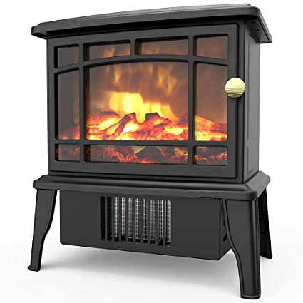 Amazon Com Opolar Mini Portable Electric Fireplace Heater Small