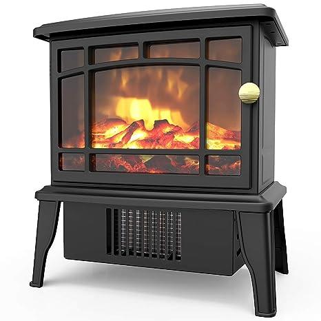 Amazon.com: OPOLAR Mini calentador de chimenea eléctrico ...