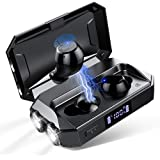 Wireless Earbuds, Bluetooth 5.0 Waterproof Headphones 130 Hrs Playtime Super Hi-Fi Stereo Sound, Auto Pairing, Touch Control