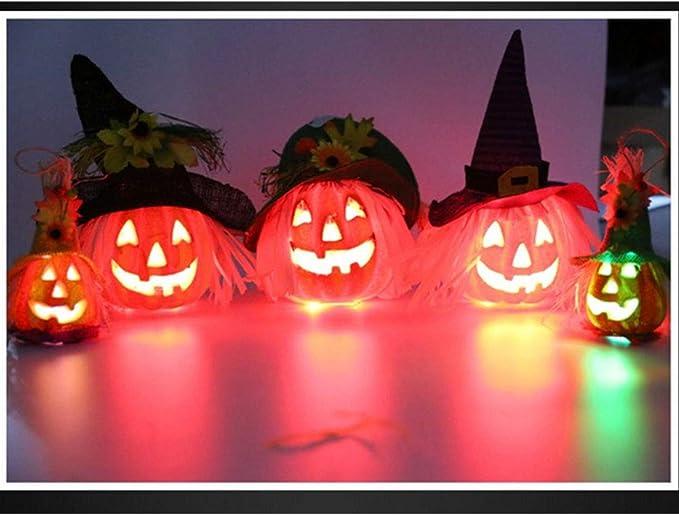 CDKJ Creativa Calabaza de Halloween Juguete de la luz Que Brillan ...
