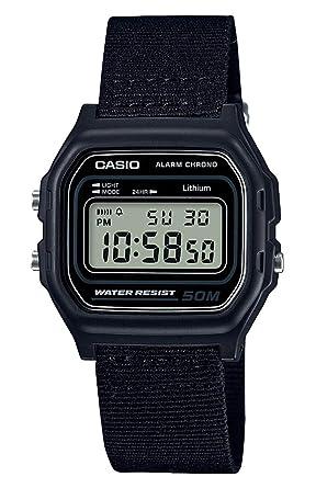 Casio Reloj Digital para Hombre de Cuarzo con Correa en PU W-59B-1AVEF: Amazon.es: Relojes