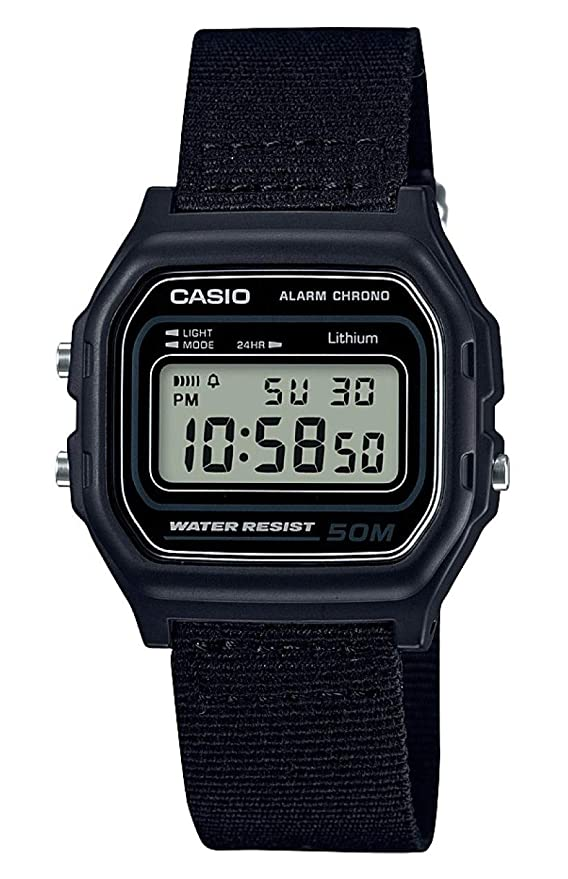 Reloj Casio con correa de tela negra