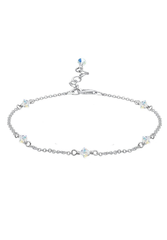 Elli - Bracelet de Cheville - Femme - Argent 925/1000 - 0707851312_25 0707851312_Weiss