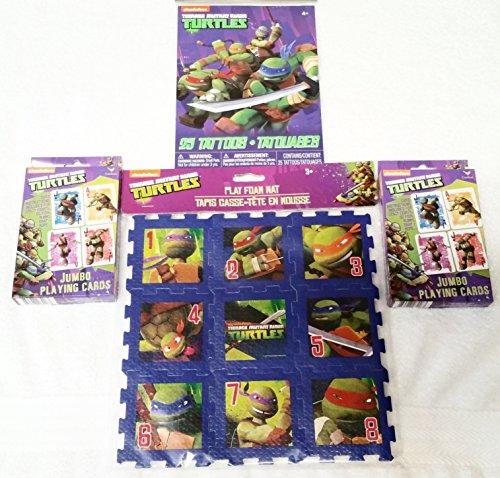 ninja-turtles-25-tattoos-ninja-turtles-play-foam-mat-2-ninja-turtles-jumbo-playing-cards-4-piece-set