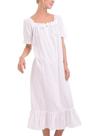 prodotto caldo 2019 autentico vendita calda online Asskyus Camicia da Notte da Donna, Pigiama in Pizzo di Loto ...