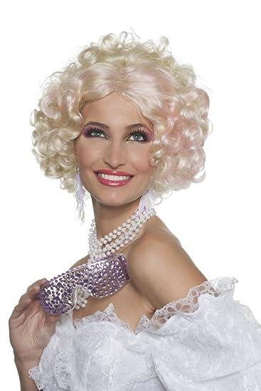 Wilbers Damen Perucke Hollywood Lady Filmstar Zum Kostum Karneval