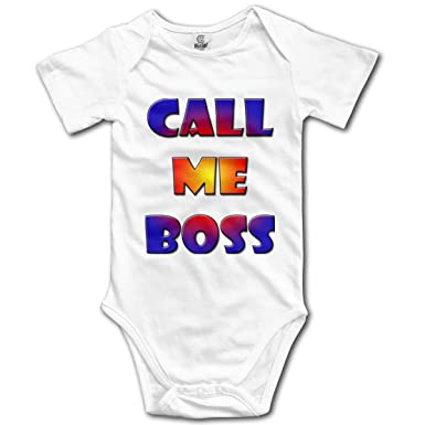 7e38314bcda Amazon.com  Call Me Boss Infant Short-Sleeve Bodysuit Baby Boys ...