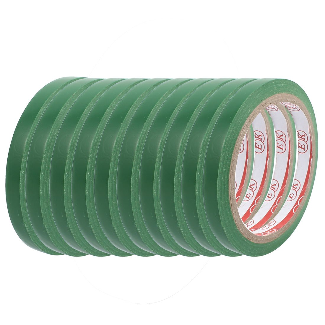 uxcell 10pcs 1cm Width Safety Caution Warning Sticker Adhesive Tape 17M Length Green