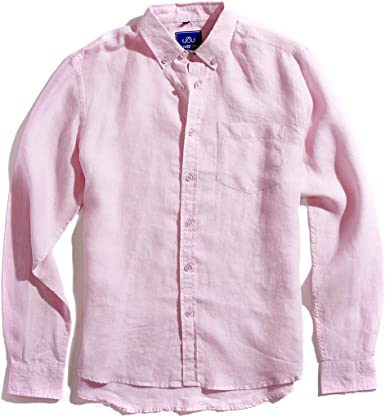 Oliver Jane - Camisa de Playa de Lino para Hombre, Color Rosa ...
