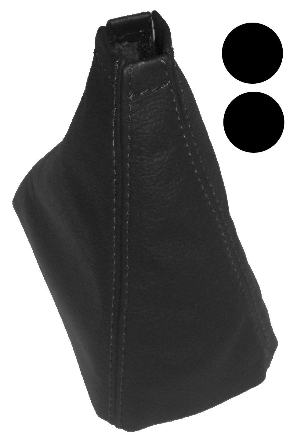 Funda para palanca de cambios 100/% Piel genuina negro con costuras de color negro AERZETIX