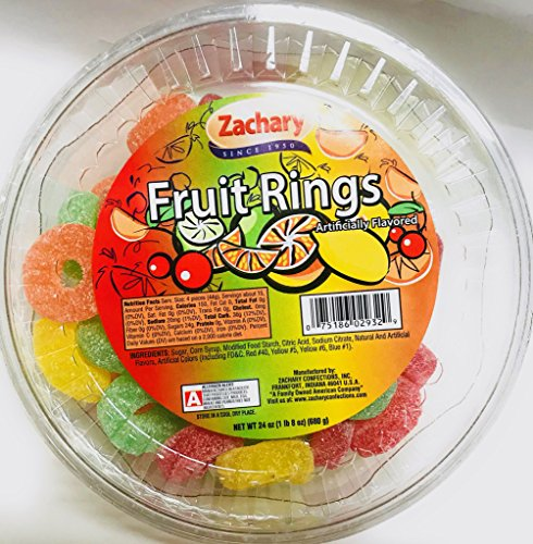 Zachary 24oz Jelly Tubs (Assorted Fruit - Chocolate Rings Jelly