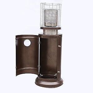 N&F Patio Heater Gas Heater, 12kw Bullet Style Terrace Heater Free Standing Easy Control Bathroom Heater for Outdoor Restaurant Garden