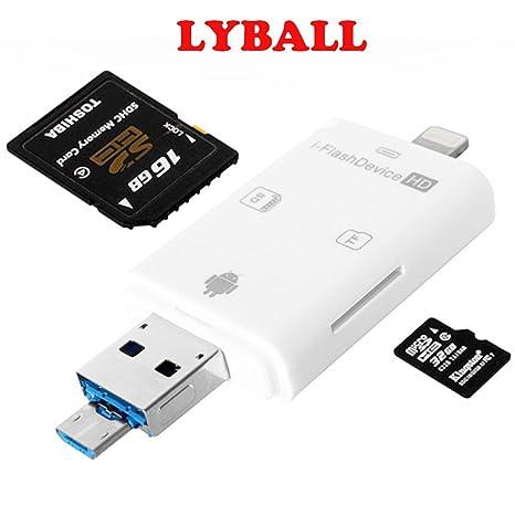 3 en 1 Rayo iFlash USB SDHC Micro SD TF OTG Lector de ...