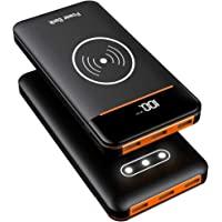 RLERON Wireless Power Bank 25000mAh Portable Charger High Capacity Fast Charging External Battery Packs 3 USB Ports and 2 Inputs(Micro&Type-C) Compatible for iPhone Android Mobile Phone and Tablets