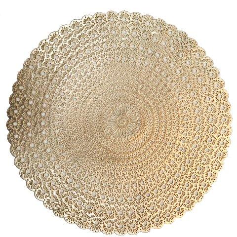 Benson Mills Shasta Pressed Vinyl Placemat , Gold/Black