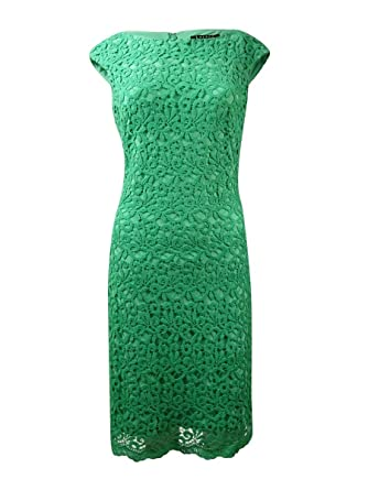 9aef2432b4e Lauren Ralph Lauren Women s Cap Sleeve Sheath Dress 12 Agave at Amazon Women s  Clothing store
