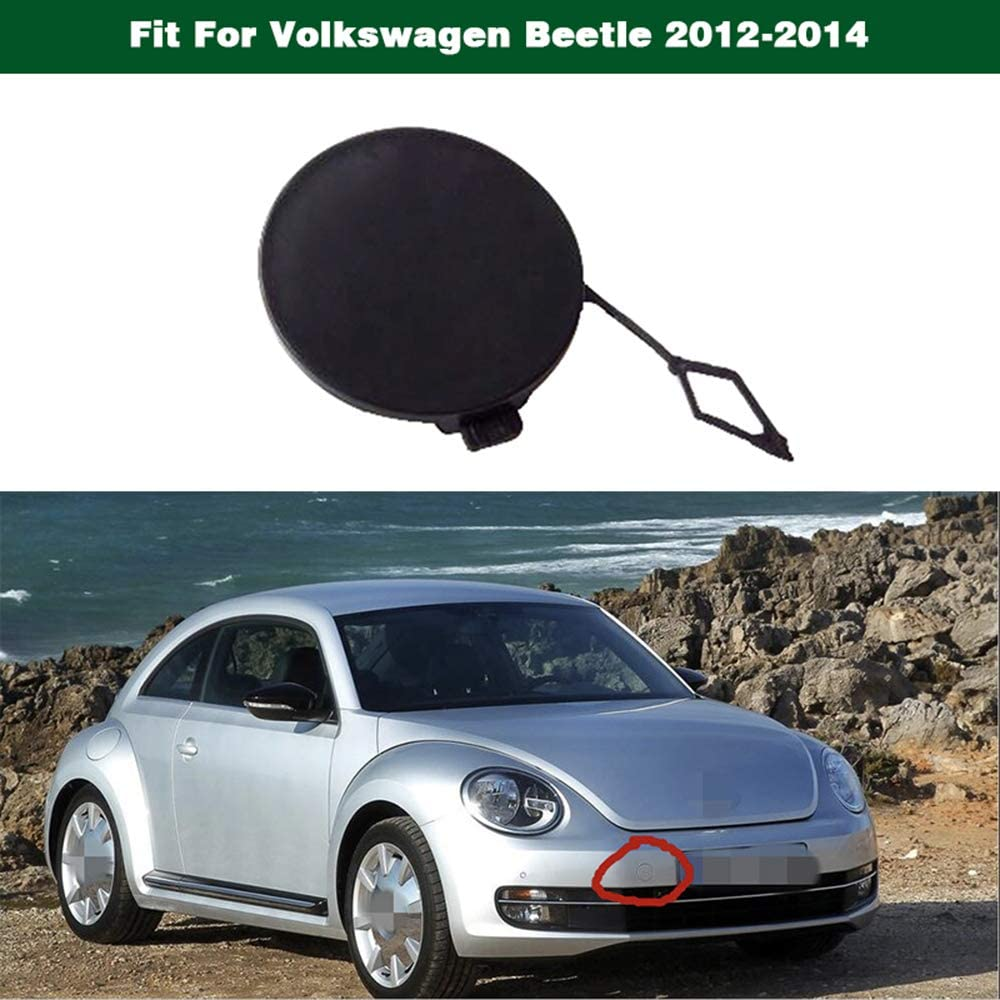 SPEEDLONG 1Pcs Front Bumper Tow Towing Hook Eye Cover Cap Trim Fit for Volkswagen Beetle 2013-2015