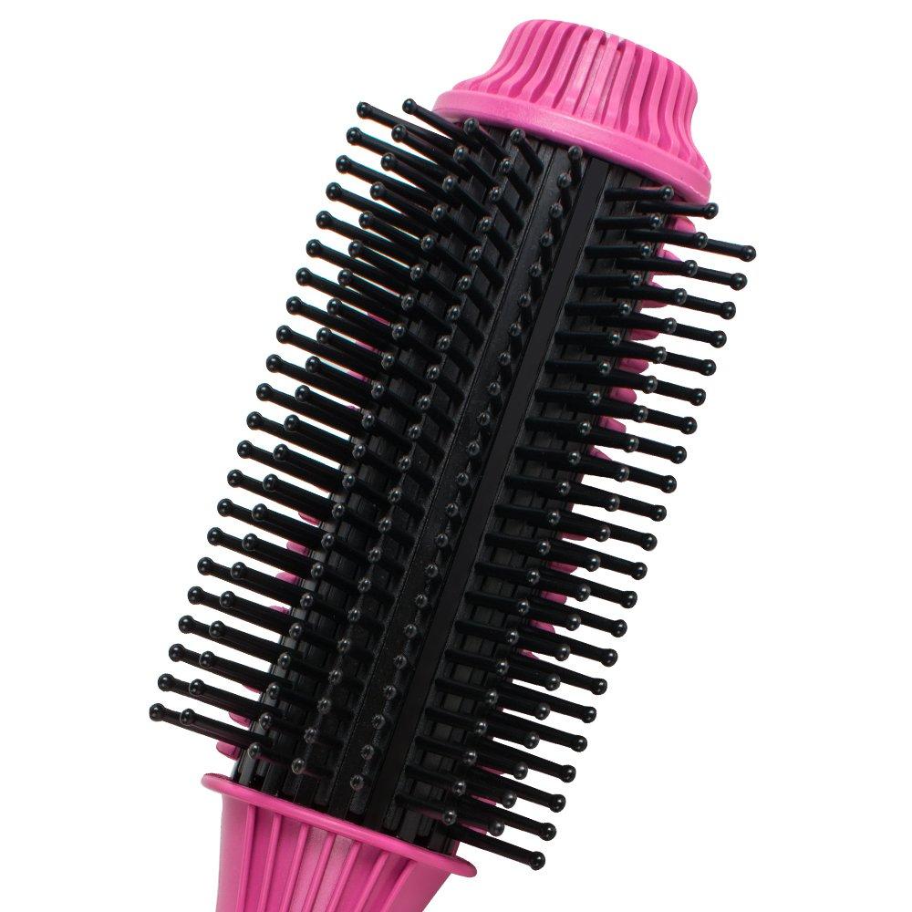 Denshine Mini Cepillo Moldeador Peine Rodillo de Cabello Plancha de Pelo Rizador Eléctrico 190°C Termostato Automático Tamaño Ligero, Fácil de Llevar para ...