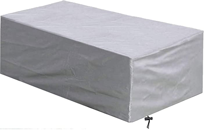 Qiaoh Garden Furniture Covers 330x220x70cm Patio Furniture Cover Rectangular Garden Table Cover Waterproof Snow Anti Uv 420d Heavy Duty Oxford Fabric For Outdoor Sofa Cover Amazon Co Uk Kitchen Home