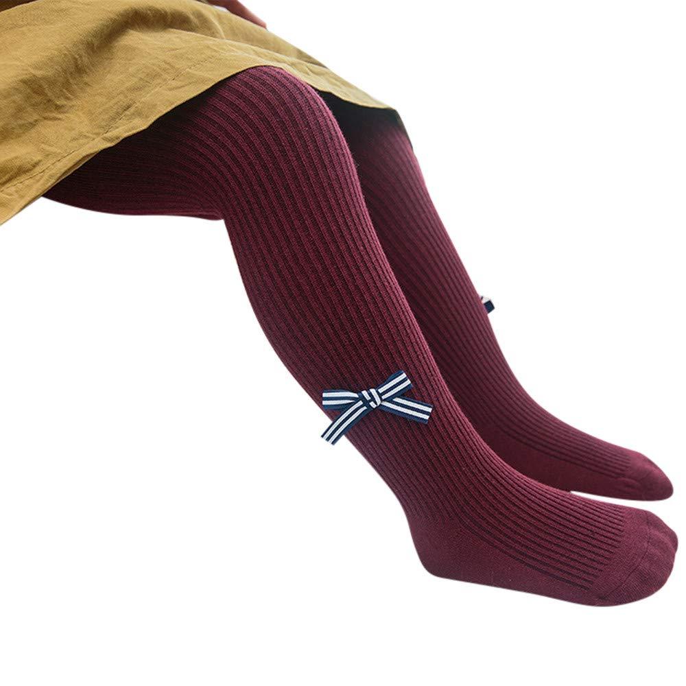 Winter Stockings,Coper Baby Girl Cartoon Elastic Striped Panty-hose Leggings