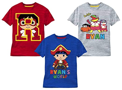 a77a6eb22 Amazon.com: Ryan's World 3 Pack T-Shirts: Clothing