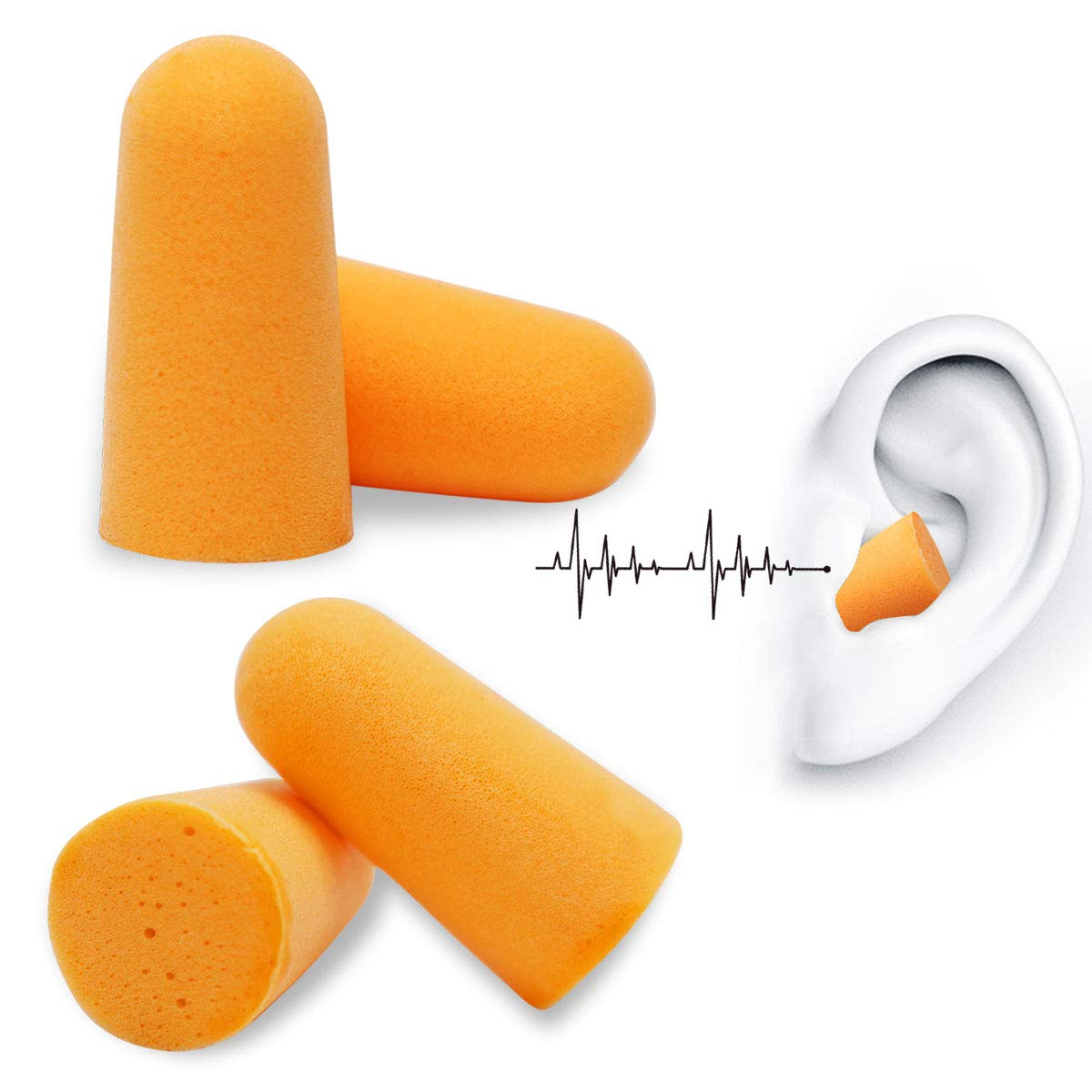 OUSPOTS Sleep Noise Cancelling Ear Plugs - Block Loud Annoying Noises Foam Earplug for Hearing Protection Noise Reduction Hunting Season Sleeping, Snoring, Working, Shooting, Travel, Concert
