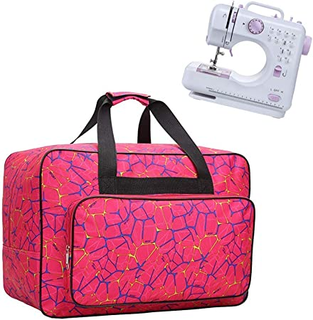 JanTeelGO Bolso para Máquina de Coser, Bolsa de nylon universal, funda de transporte acolchada universal con bolsillos y asas (Rosa): Amazon.es: Hogar