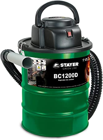 Stayer 1200D Aspirador de Ceniza, 1200 W, 230 V, Verde, 0: Amazon ...
