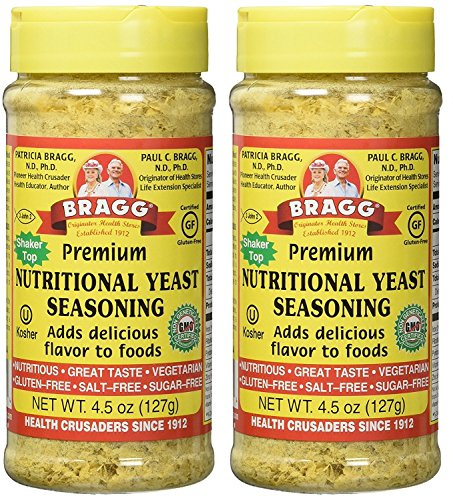 Bragg Premium Nutritional Yeast Seasoning 4.5 Ounce Pack 2 (Best Nutritional Yeast Brand)
