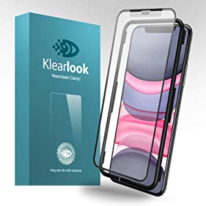 i'Phone 11 Matte Screen Protector Klearlook Tempered Glass Protector Anti-Glare Case Friendly Compatible with i'Phone 11 6.1 inch