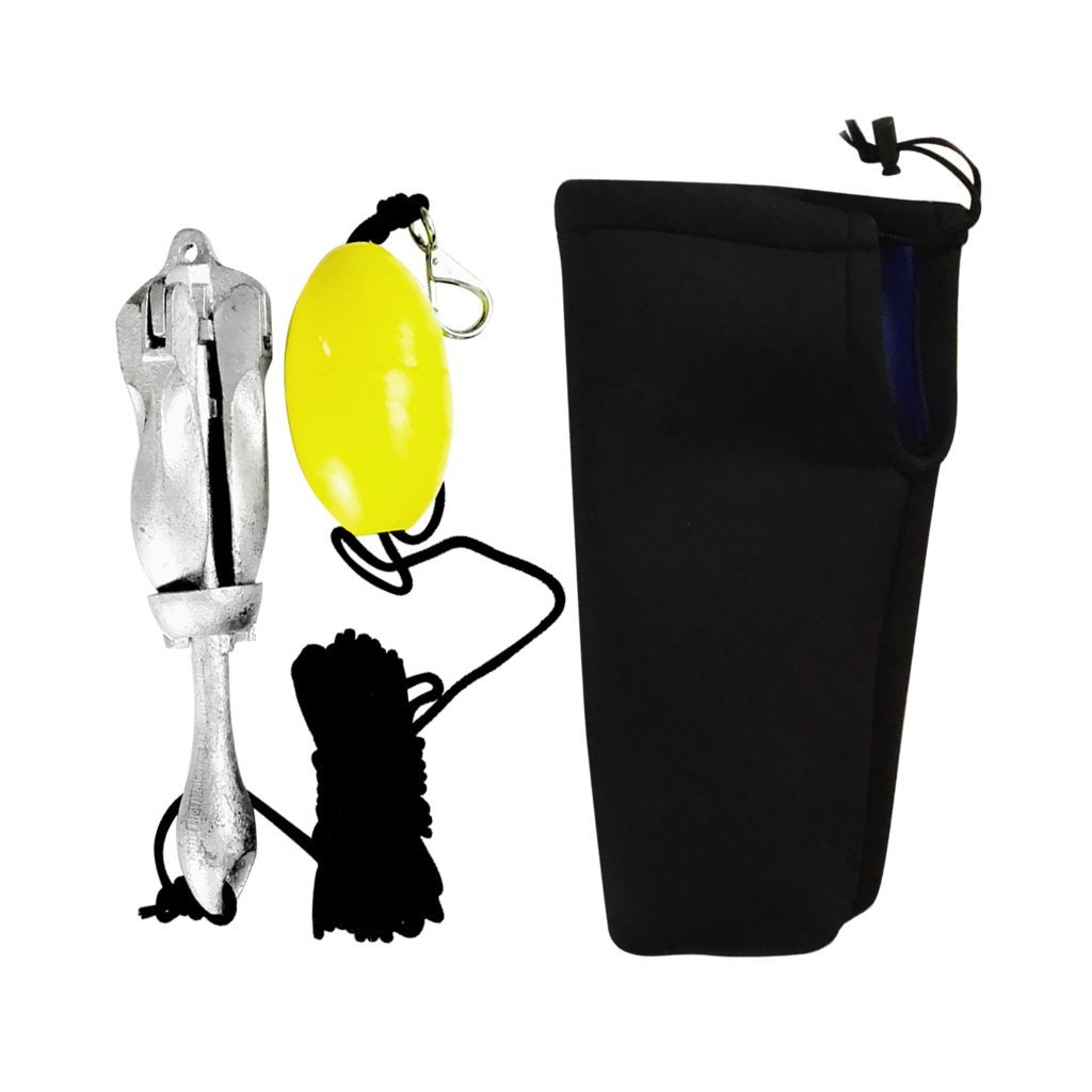 FLAMEER Kit De Anclaje con Clip para Bolsa De Cuerda DE 30 Pies Y Boya Flotante Kayak para Canoa De Botes Pequeños