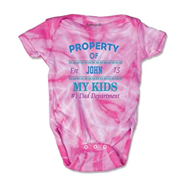 9b3c3b519 Personalized Custom Property of My Kids Dad Department Cotton Short Sleeve  Envelope Neck Boys-Girls