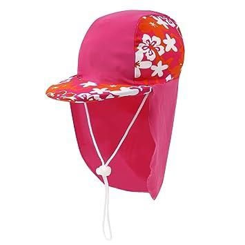 54e51d97f4e Amazon | N-hilfe 日よけ帽子 子供用 UPF50+ 水泳帽 キッズ 防水 ...