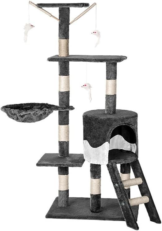 Aufun Arbol Gato Árbol para Gatos con Rascador Escalada algodón ...