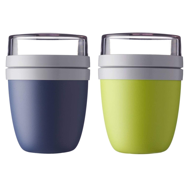 Mepal Lunchpot 2-er Set Ellipse aqua und nordic green Lunchbox