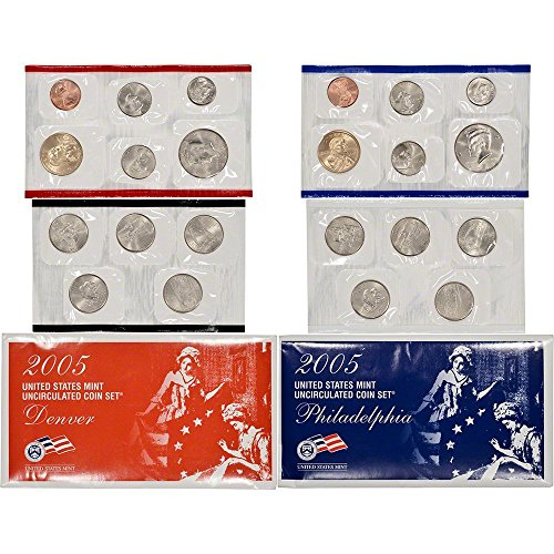 2005 P&D US Mint Uncirculated Coin Mint Set Sealed Unicirculated