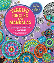 Tangled Circles and Mandalas: 52 Drawings to Finish and Color--Plus Design Guide and 30 Patterns for Tangling (Tangled Color and Draw)