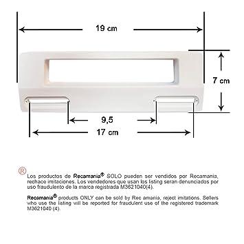 Tirador puerta Frigorifico BLANCO Distancia entre agujeros mínimo ...