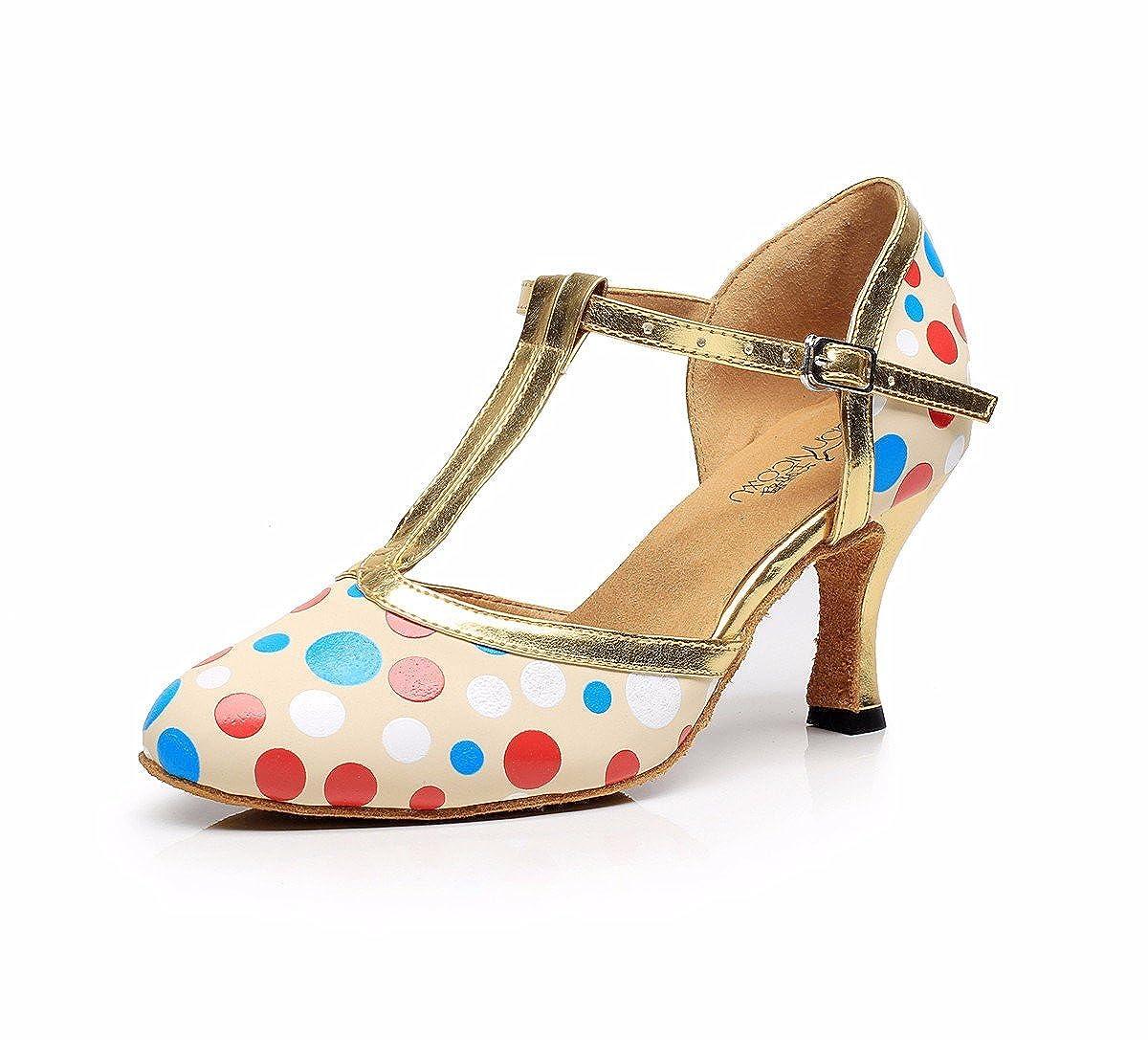 MultiCouleure JINGXINSTORELes chaussures de danse salsa latine sandales d'intérieur professionnel de pu 37 EU