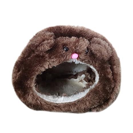 LeisialTM Casa de Hámster Caliente de Algodón Suave Caliente Lindo Invierno Camas de Animales para Perro Gato Mascota: Amazon.es: Hogar