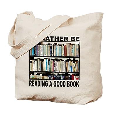 Amazon.com: CafePress - BOOK LOVER Tote Bag - Natural Canvas Tote ...
