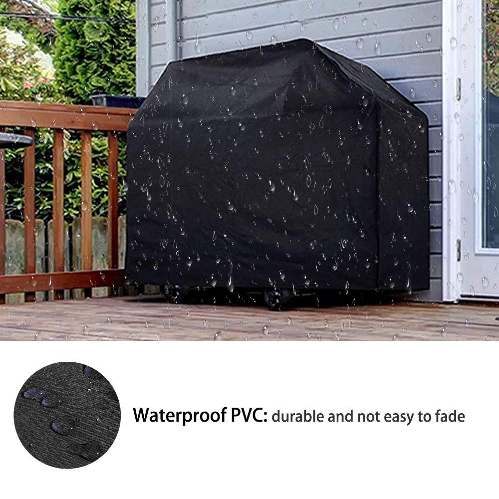 145 x 61 x 117 cm SIRUITON Housse Barbecue Imperm/éable BBQ Couverture de Protection Housse B/âche Gril Anti-UV//Anti-leau//Anti-lhumidit/é