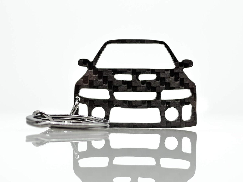BlackStuff Llavero De Fibra De Carbono Cadena De Claves Compatible con Lancer EVO 5 V BS-774
