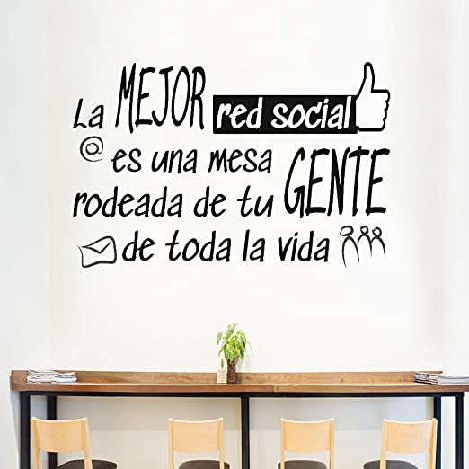 Docliick Frase Vinilo Para Cocina O Restaurantela Mejor Red Social Vinilos Decorativos Docliick Dc 18042 Vinilo De Corte 30x20cm