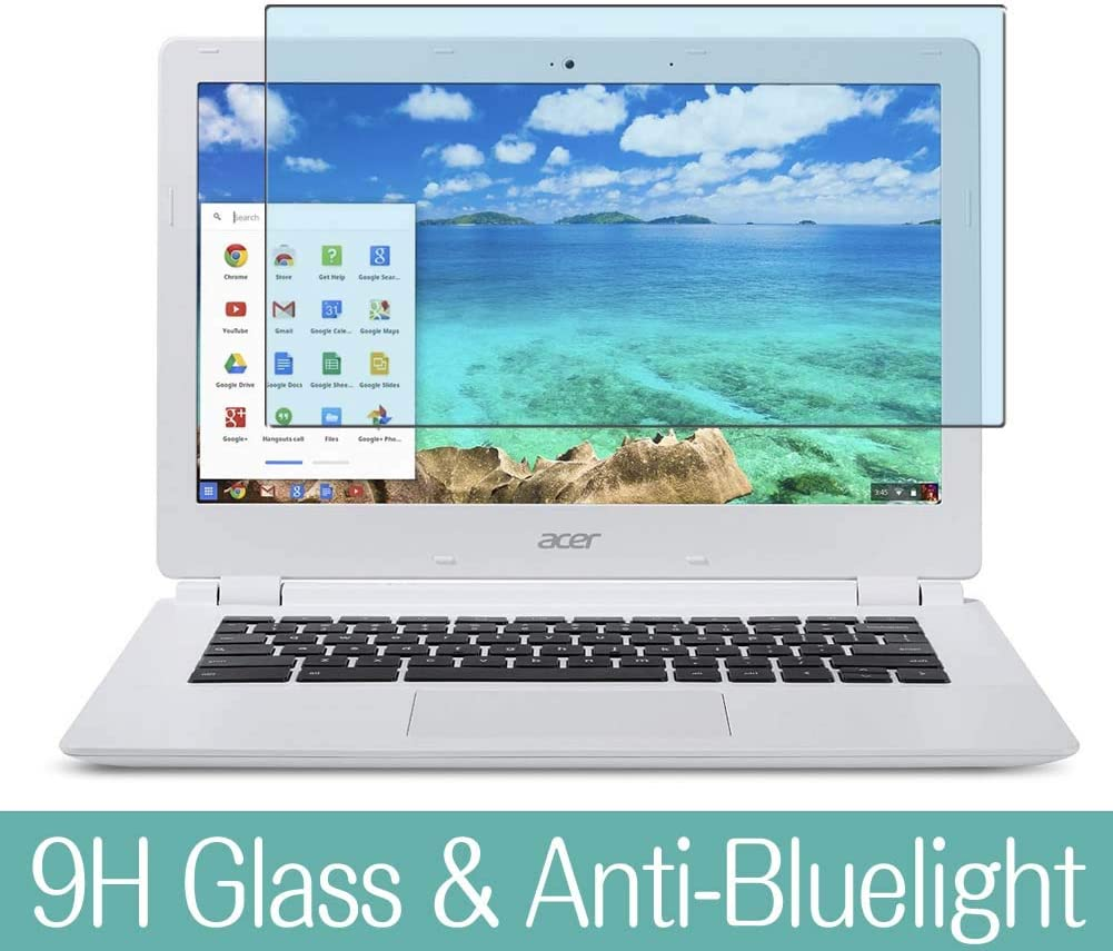 "Synvy Anti Blue Light Tempered Glass Screen Protector for Acer Chromebook 15 CB5-571 15.6"" Visible Area 9H Protective Screen Film Protectors (Not Full Coverage)"