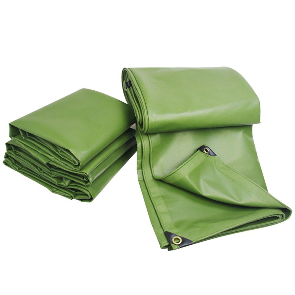 GLJ Regenfeste Plane Wasserdichte Sonnencreme Dicke Leinwand Baldachin Plane Plane (Farbe   Armeegrün, größe   2x2m)