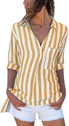 Camisas de Mujer Blusas de Moda Cardigan Mujer Camisa de ...