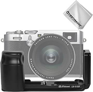 L-Shaped Metal Quick Release Plate Bracket Hand Grip for X 100F Mirrorless Camera