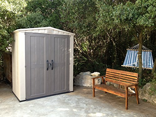 Garden and Outdoor Keter Factor 6×3 Outdoor Storage Shed Kit-Perfect to Store Patio Furniture, Garden Tools Bike Accessories, Beach Chairs… outdoor storage sheds