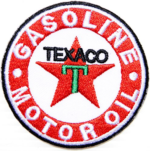 TEXACO Motor Oil Gasoline FILLING STATION Logo Racing Patch Iron on Applique Embroidered T shirt Jacket Costume BY SURAPAN